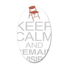 Obama Empty Chair - Remain I 35x21 Oval Wall Decal