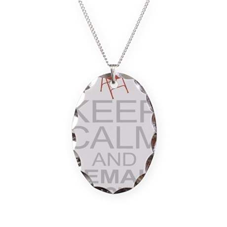 Obama Empty Chair - Remain Inv Necklace Oval Charm