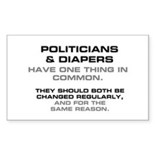 POLITICIANS  DIAPERS Decal