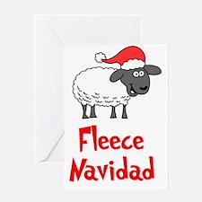 Fleece Navidad Stocking Greeting Card