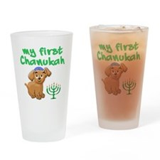 My first Chanukah Drinking Glass