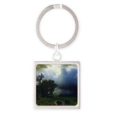 Bierstadt Before The Storm Square Keychain