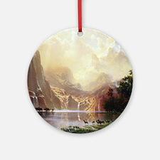 Albert Bierstadt Sierra Nevada Round Ornament