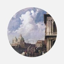 Piazza in Venice by Canaletto Round Ornament