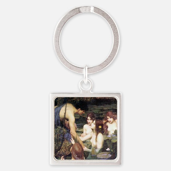 Hylas and the Nymphs Square Keychain
