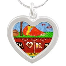 hornOKplease1i Silver Heart Necklace