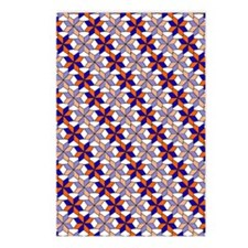 Orange and Blue Pattern Postcards (Package of 8)