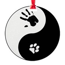 Cat Therian Ying Yang Ornament