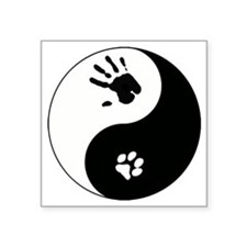 "Cat Therian Ying Yang Square Sticker 3"" x 3"""