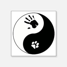 """Cat Therian Ying Yang Square Sticker 3"""" x 3"""""""