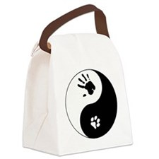 Cat Therian Ying Yang Canvas Lunch Bag