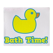 It's Bath Time for baby! Throw Blanket