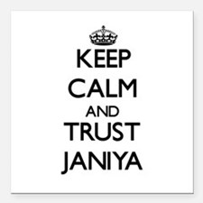 "Keep Calm and trust Janiya Square Car Magnet 3"" x"