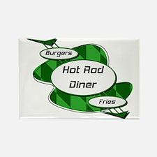 Hot Rod Diner Burger And Fries Rectangle Magnet