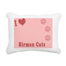 I love Birman Cats Photo Rectangular Canvas Pillow