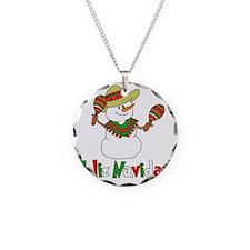 Feliz Navidad Snowman Necklace