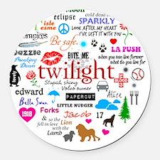 Twilight Round Car Magnet