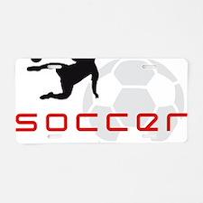 soccer player star Aluminum License Plate