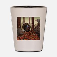 Wild Turkeys Shot Glass