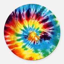 Tie Dye! Round Car Magnet