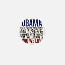 Obama Equality Mini Button
