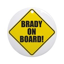 Brady On Board Round Ornament