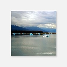 "Tracey Arm Fjord Square Sticker 3"" x 3"""