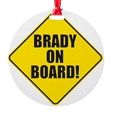 Brady On Board Ornament