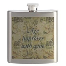 Age Improves With Wine Flask