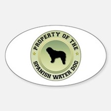 Water Dog Property Oval Decal