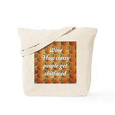 Classy Wine Tote Bag