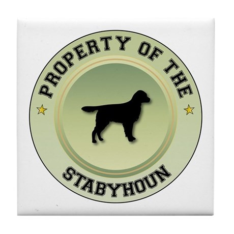 Stabyhoun Property Tile Coaster