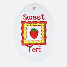 Sweet Tori Oval Ornament