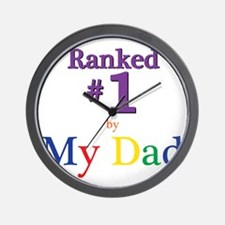 Ranked #1 by My Dad (SEO) Wall Clock