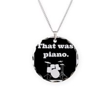 Drumset That was Piano Necklace Circle Charm