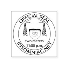 """Insomniac Net Official Seal Square Sticker 3"""" x 3"""""""