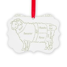 Light Grey print / Know Your Cuts Picture Ornament