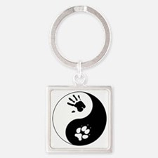 Coyote Therian Ying Yang Square Keychain