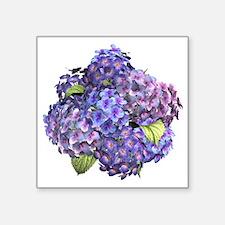 """Hydrangea Square Sticker 3"""" x 3"""""""