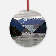 Tracy Arm Glacier Round Ornament