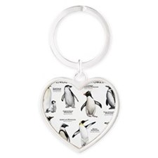 Penguins of the World Heart Keychain