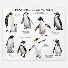 Penguins of the World King Duvet