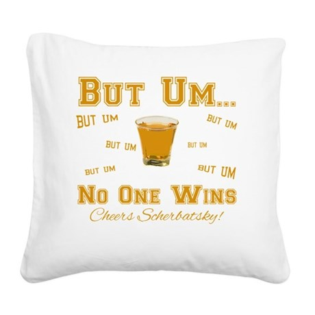 But-Um Square Canvas Pillow