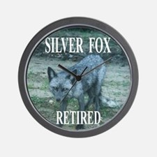 Silver Fox Retired Wall Clock