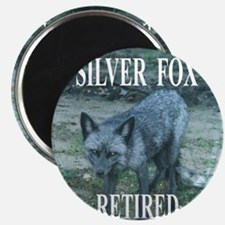 Silver Fox Retired Magnet