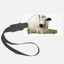 British White Cow Luggage Tag