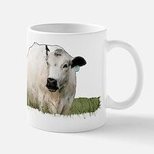 British White Cow Mug