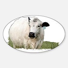 British White Cow Decal