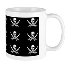 Calico Jacks Pirate Flag Pattern Small Mug
