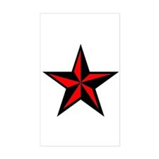 Punk Rock Red Nauticle Star Decal